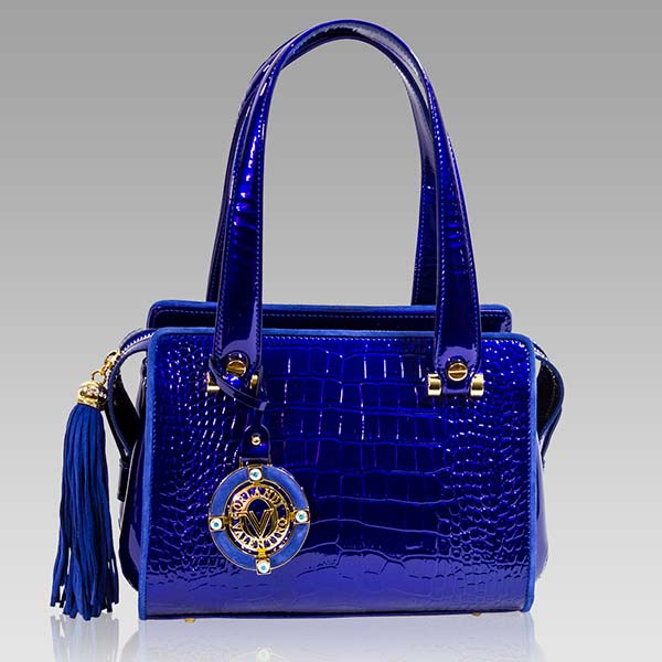 Designer Italian Leather Croc Embossed Handbags and Purses