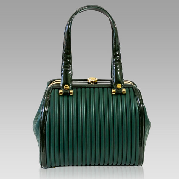 Designer Italian Leather Green Bags