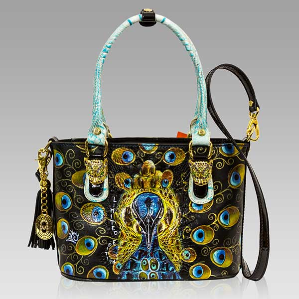 Designer Italian Leather Handpainted Shoulder Bags