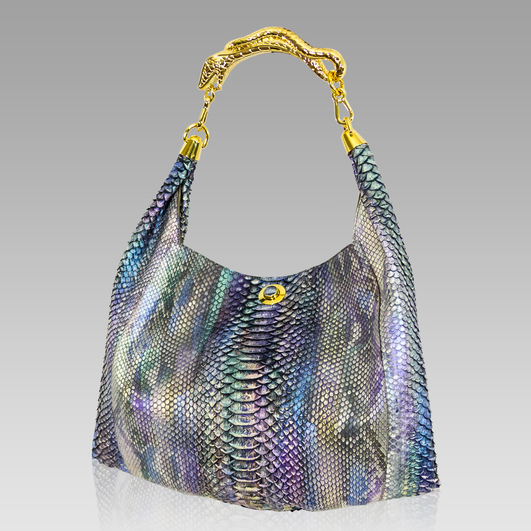 Designer Italian Genuine Python Leather Handbags and Purses