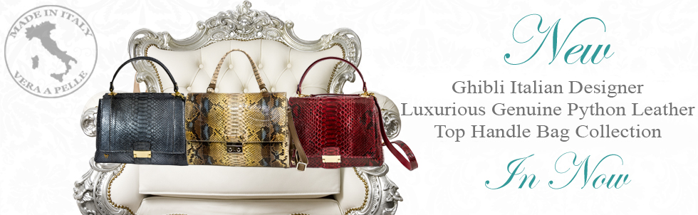 New Ghibli Italian Designer Luxurious Genuine Python Leather Top Handle Bag Collection