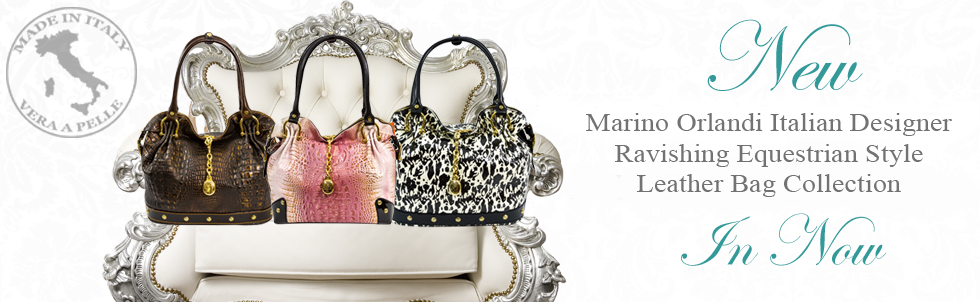 New Marino Orlandi Italian Designer Ravishing Equestrian Style Leather Bag Collection
