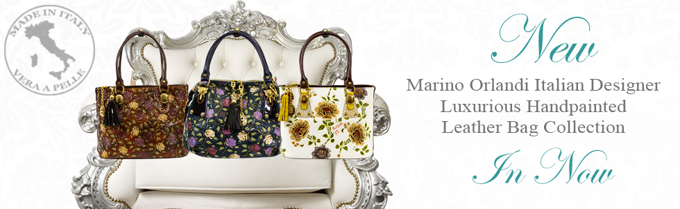 New Marino Orlandi Italian Designer Luxurious Handpainted Leather Bag Collection