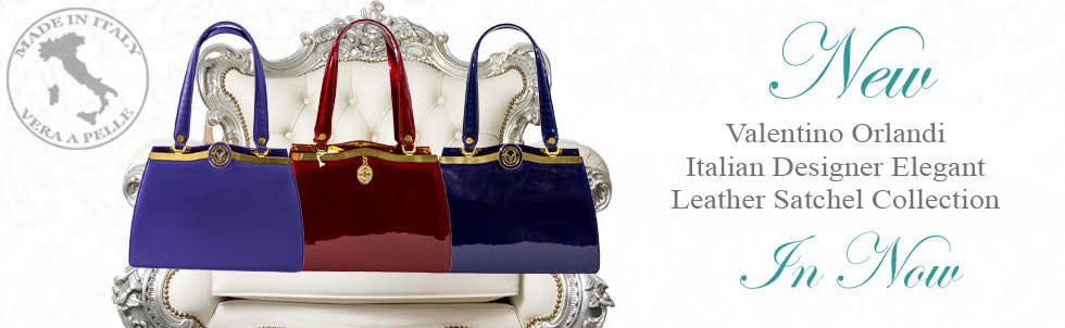 New Valentino Orlandi Italian Designer Elegant Leather Satchel Collection In Now