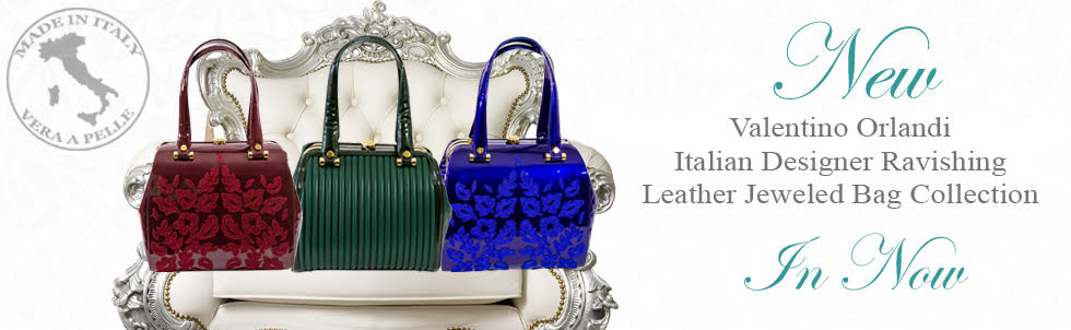 New Valentino Orlandi Italian Designer Ravishing Leather Jeweled Bag Collection In Now