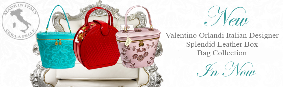 New Valentino Orlandi Italian Designer Splendid Leather Box Bag Collection