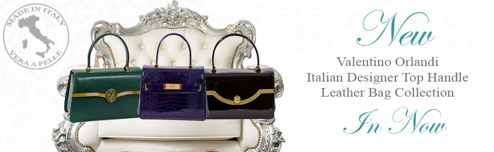 New Valentino Orlandi Italian Designer Top Handle Leather Bag Collection In Now